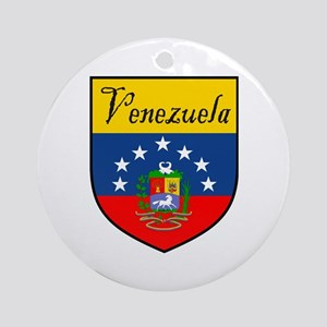 Venezuela Flag Crest Shield Ornament (Round)