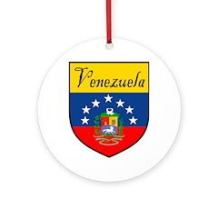 Venezuela Flag Crest Shield Ornament (Round)