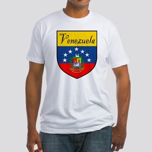 Venezuela Flag Crest Shield Fitted T-Shirt