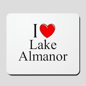 """""""I Love Lake Almanor"""" Mousepad"""