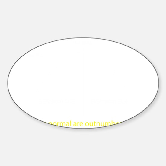 Normal bell curve Sticker (Oval)