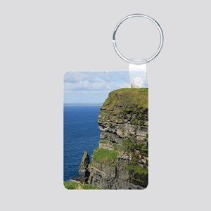 Ireland 01 text Aluminum Photo Keychain