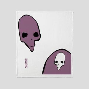 FlipFlop_PunkSkull_BlkPrplWht Throw Blanket