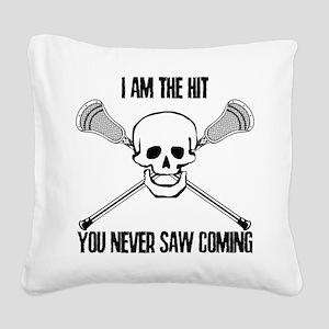 Lacrosse Never Saw Square Canvas Pillow
