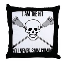 Lacrosse Never Saw Throw Pillow