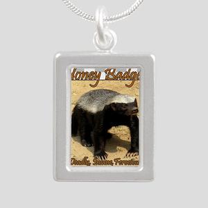 Honey Badger Silver Portrait Necklace