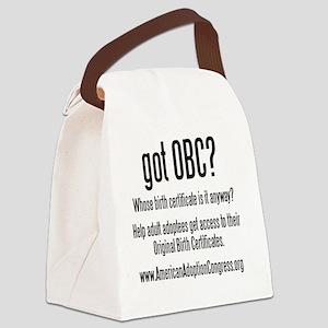 got obc steelfish black copy Canvas Lunch Bag