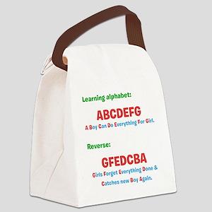 abcdefg Canvas Lunch Bag