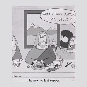 The Next to Last Supper Throw Blanket