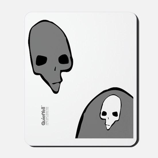 FlipFlop_PunkSkull_BlkGryWht Mousepad