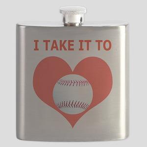 Baseball T-Shirts  Gifts, Take It To Heart Flask