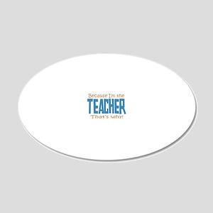 teacher 20x12 Oval Wall Decal