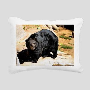 American Black Bear 3 Rectangular Canvas Pillow