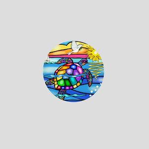 Sea Turtle 8 - square Mini Button