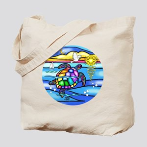 SeaTurtle 8 - round Tote Bag