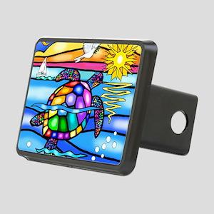 Sea Turtle 8 - square Rectangular Hitch Cover