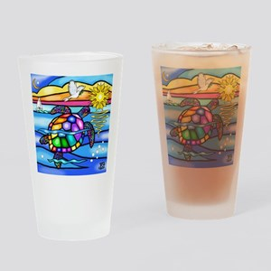 Sea Turtle 8 - square Drinking Glass