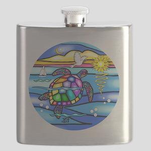 SeaTurtle 8 - round Flask