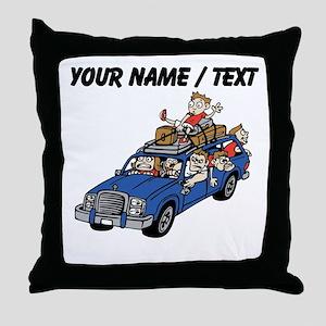 Custom Family Roadtrip Throw Pillow