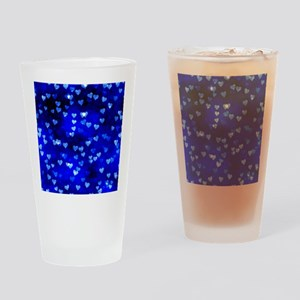 BlueHearts Drinking Glass