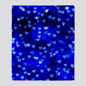 BlueHearts Throw Blanket