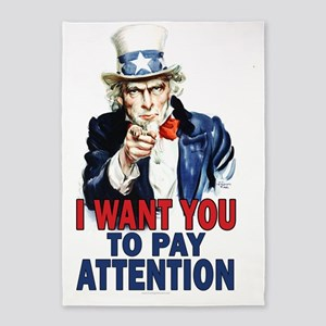 23x35_print_LG_pay_attention 5'x7'Area Rug