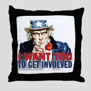 calendar_get_involved Throw Pillow