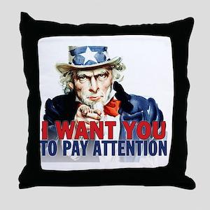 calendar_pay_attention Throw Pillow