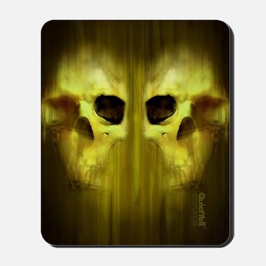 FlipFlop_AggressiveSkull_GRN Mousepad