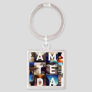 #AMSTERDAM Square Keychain