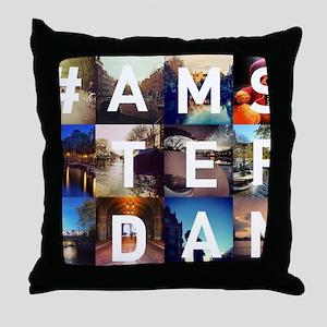 #AMSTERDAM Throw Pillow