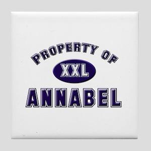 Property of annabel Tile Coaster