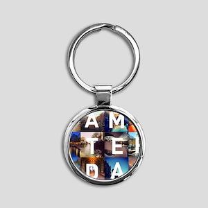 #AMSTERDAM Round Keychain