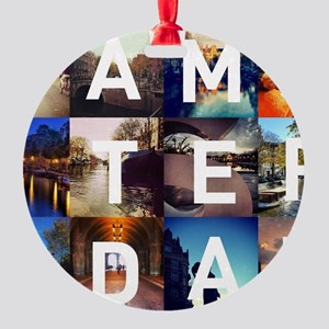 #AMSTERDAM Round Ornament