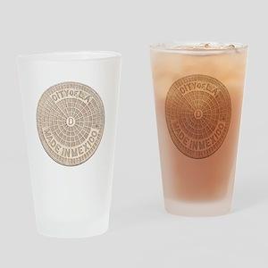 CofLA Brown Pencil Drinking Glass