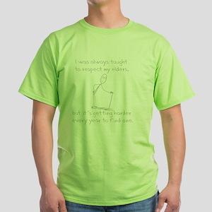 RespectEldersDk Green T-Shirt