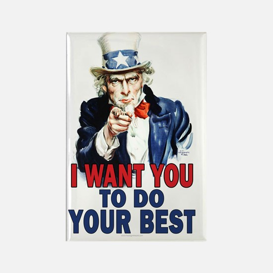 11x17_unclesam_doyourbest2 Rectangle Magnet
