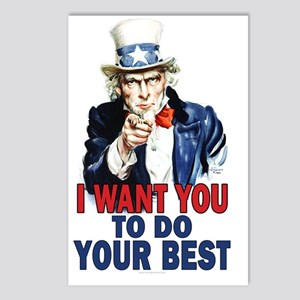 11x17_unclesam_doyourbest Postcards (Package of 8)