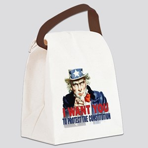 calendar_protect_constitution Canvas Lunch Bag