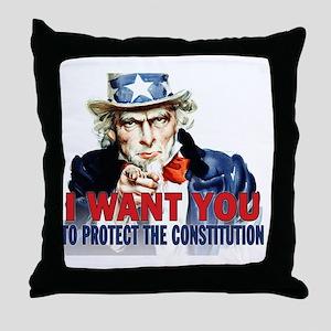 calendar_protect_constitution Throw Pillow