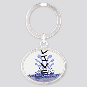 diveWords Oval Keychain