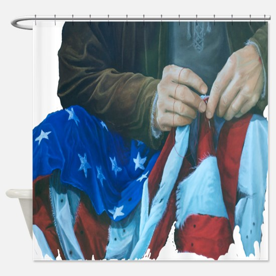 patriotic sewingprogress2 Shower Curtain