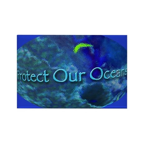 Protect Our Oceans Rectangle Magnet