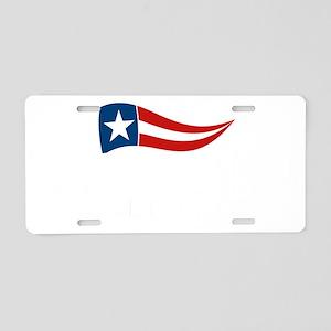 SQ_bachmann_flag_02 Aluminum License Plate