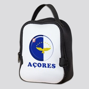 Azores islands flag Neoprene Lunch Bag
