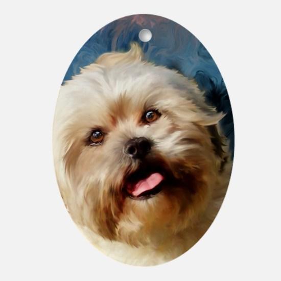 Card-Chloe Oval Ornament