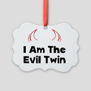 Evil Twin Black Picture Ornament
