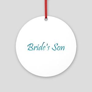 Bride's Son - Sea Blue Ornament (Round)
