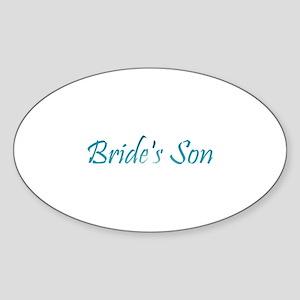 Bride's Son - Sea Blue Oval Sticker