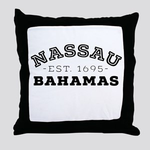 Nassau Bahamas Throw Pillow